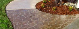 Embossed Concrete Drive Ways, Walk Ways and Patios